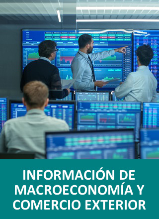 Pantallas con datos financieros
